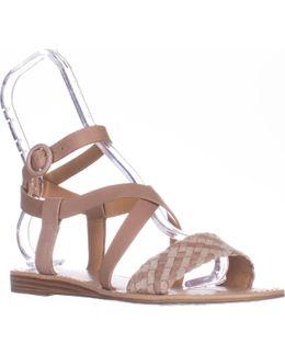Georgetta Flat Ankle-strap Sandals