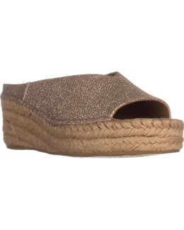 Pine Espadrille Slip On Wedge Mules