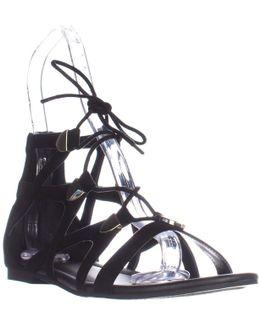 G By Lewy Black Camoscio Suede Sandals