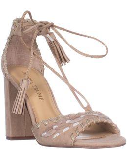 Karita Block Heel Lace Up Sandals