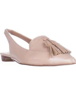 Paulina Slingback Tassel Pointed Toe Loafers