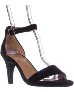 Laminate Ankle Strap Dress Sandals