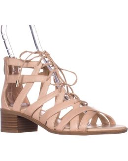 Ocean Low-heel Lace-up Sandals