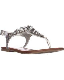 G Londean Round Toe T-strap Sandals