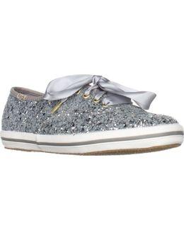 Kate Spade Glitter Ribbon Lace Fashion Sneakers
