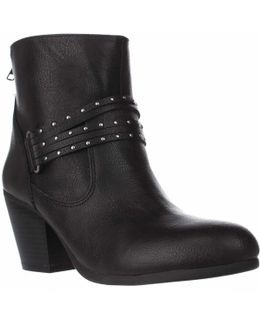 Longevity Studded Ankle Booties