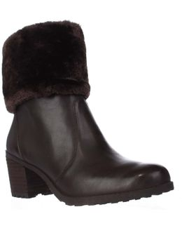 Incognito Faux Fur Cuff Winter Ankle Boots
