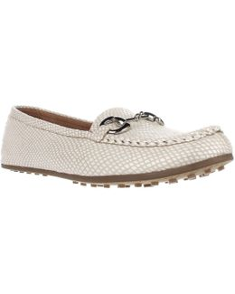 Drive Through Slip-on Loafers - White Snake