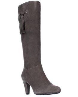 Bacia Wide Calf Tassel Dress Boots