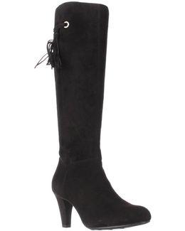 Bacia Tassle Fringe Tall Boots - Black