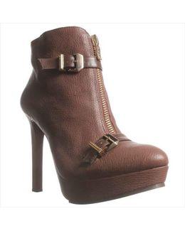 Wish Zipper Front Platform Ankle Boots