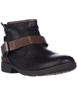 Rough Ankle Strap Casual Ankle Boots
