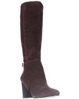 Denver Knee High Fashion Boots - Oak