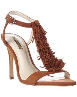 Fringe-trim Sandals
