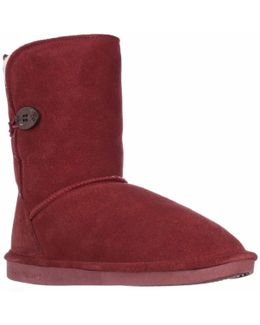 Elena Sheepskin Lined Comfort Winter Boots - Redwood