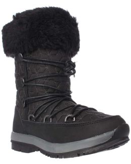 Leslie Fleece Lined Winter Boots - Black