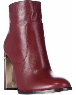 Karlia Dress Ankle Boots - Dark Red