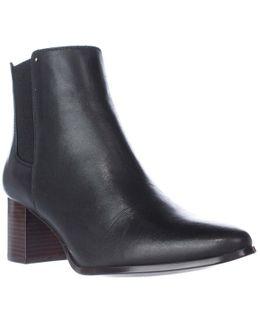 Felda Block Heel Ankle Boots - Black