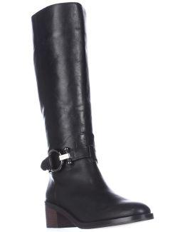 Carolina Knee-high Riding Boots - Black