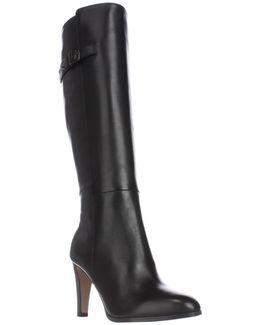 Jo Knee High Dress Boots - Black