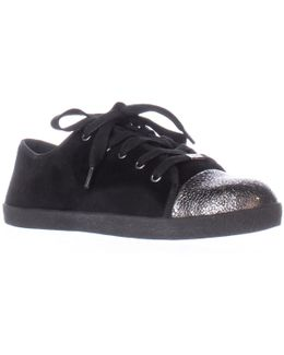 Magie Low Top Fashion Sneakers - Black