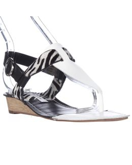 Diane Von Frustenberg Dion T-strap Low Wedge Sandals