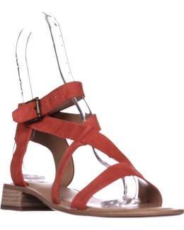 Alora Flat Cross Strap Sandals