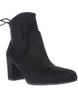 Pisces Black Lace Ankle Booties - Black