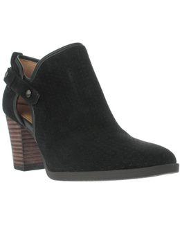 Dakota Side Zip Booties - Black