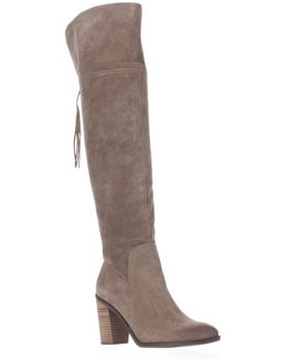 Eckhart Tassel Back Over The Knee Boots - Taupe