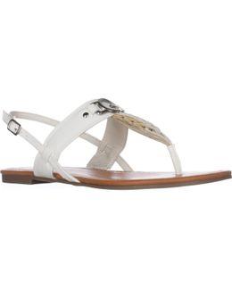 G Liberty Flat Sandals - White