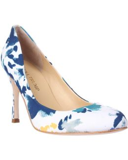 Janie Classic Round-toe Heels - Blue Multi