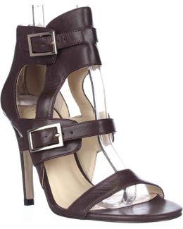 Donalu Ankle Cuff Dress Sandals - Dark Red
