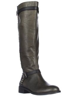 Ellister Studded Flat Riding Boots
