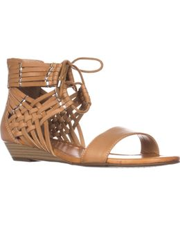 Lourra Wedge Lace Up Sandals