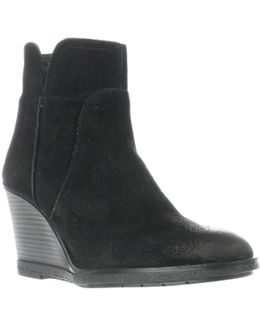 Reaction Dot-ation Wedge Ankle Boots - Black
