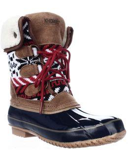 Jenna Fleece Lined Mid Calf Winter Boots