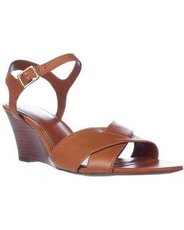 Lauren Ralph Lauren Heila Wedge Ankle Strap Sandals