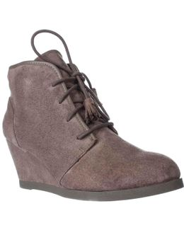 Dallyy Lace Up Wedge Ankle Booties