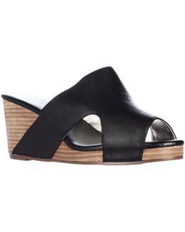 406561 Peep Toe Slide Wedge Sandals