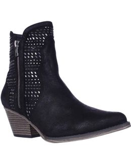 Joaquin Jewel Studded Western Ankle Booties