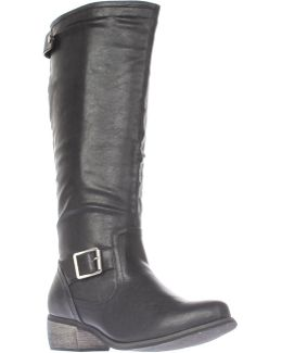 Sylvestra Knee High Motorcycle Boots