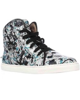 Sebastian High Top Zipper Lined Fashion Sneakers