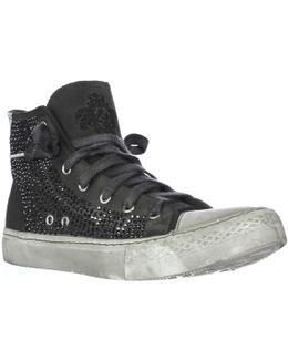 Cecilia High-top Studed Sneakers
