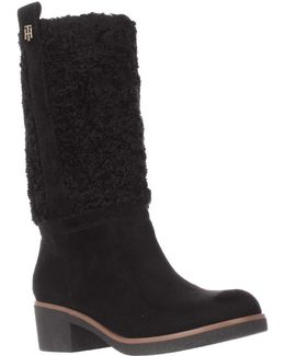 Ynez Faux Shearling Calf Snow Boots