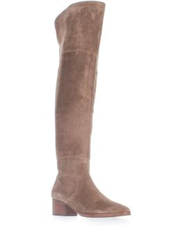 Ophira Over-the-knee Boots - Dark Taupe