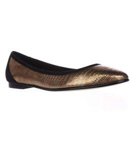 Demetria Ballet Flats - Gold Lizard