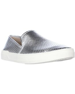 Galea5 Perforated Slip On Sneakers - Silver