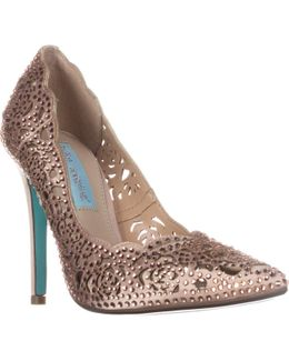 Elsa Scalloped Rhinestone Evening Sandals
