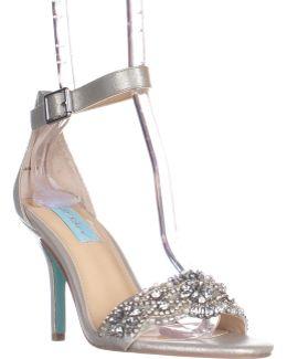 Gina Embellished Ankle Strap Dress Sandals